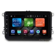 """8 """"pure 6.0.1 Android Reproductor de DVD especial del coche 2006 2007 2008 2009 2013 de POLO Bora Golf PASSAT Skoda con Wifi GPS BT FM mapa"""