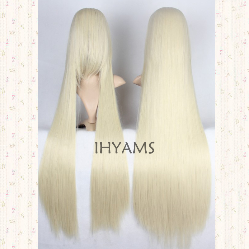 Mcoser Cosplay Chobits-chii Womens Anime 130cm Long Beige Straight Lolita Party Synthetic Hair Full Wig Volume Large Synthetic None-lacewigs