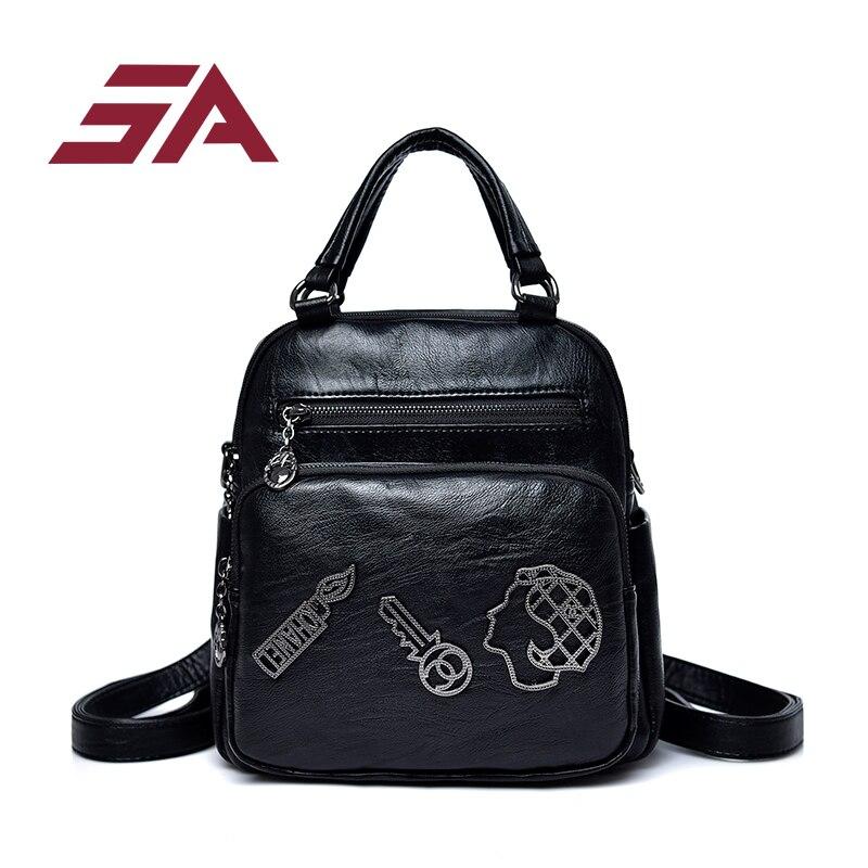 2018 nouvelle mode femme sac à dos en cuir PU marques célèbres sacs à dos femme haute qualité cartable sac à dos élégant Mochilas