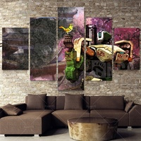 Hot Sale 5 Panel Unframed Printed Robot Transformer 5 Piece Painting Wall Art Children S Room