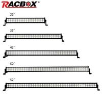 RACBOX Dual Row Straight LED Work Light Bar 22 32 42 50 52 Inch 120W 180W 240W 300W for Car Truck 4x4 SUV ATV Boat Auto LED Lamp
