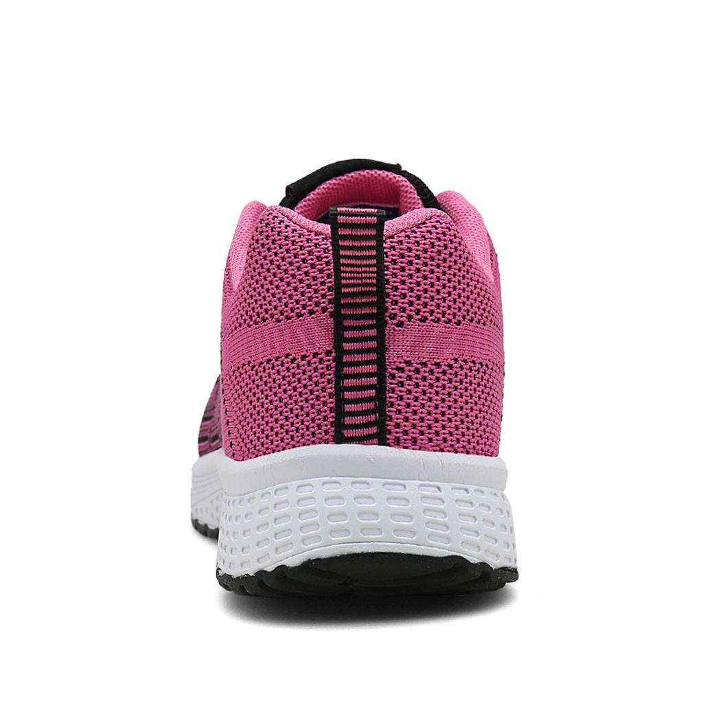 Dames Sport Femme De Air Hot Pink Casual Sneakers Plein Chaussures En blanc rose Mou Fond Respirant Zapatos Mesh Mujer YqdRO0w