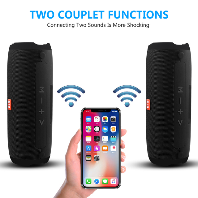 E13 Mini  Portable Wireless Bluetooth Speaker Stereo Speakerphone Radio Music Subwoofer Column Speakers for Computer with TF FM