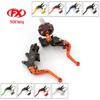 FX CNC 7 8 22mm Motorcycle Brake Clutch Lever Master Cylinder Reservoir Hydraulic For Honda CBF125