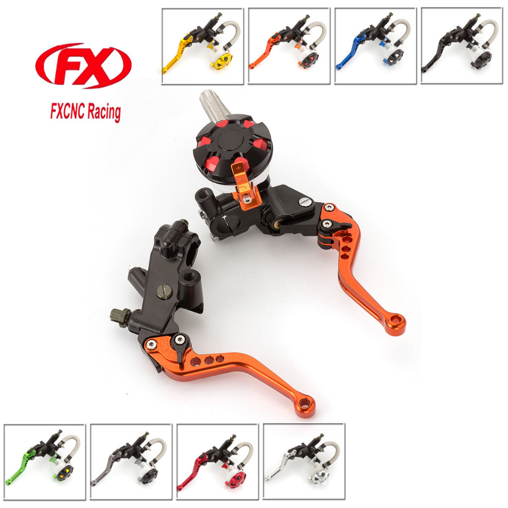 FX CNC 7/8 22mm Motorcycle Brake Clutch Lever Master Cylinder Reservoir Hydraulic For Honda CBF125 2009 - 2013 2012 2011 2010