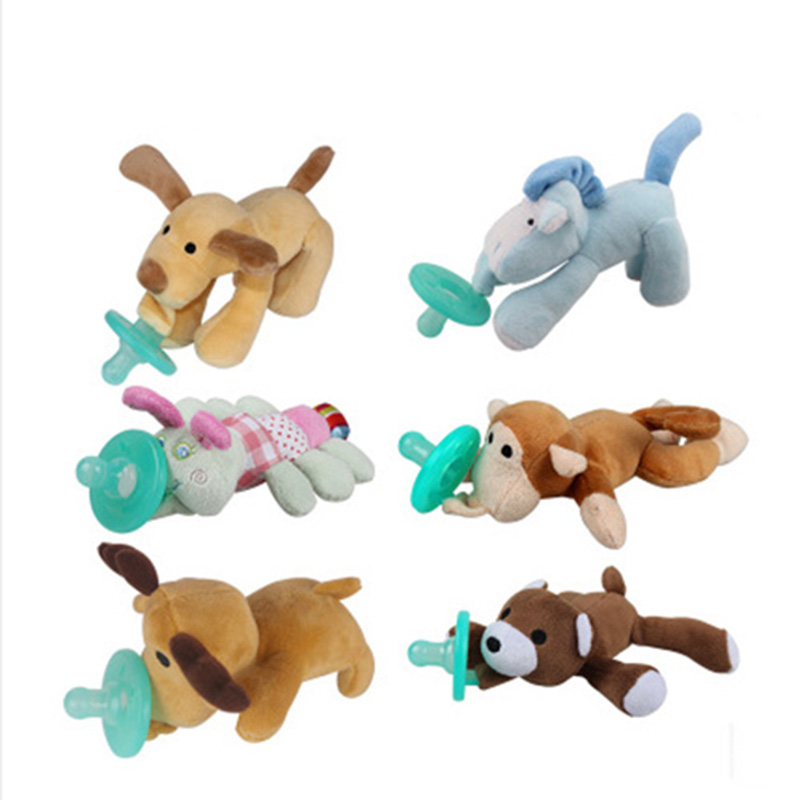 Baby Teethers Useful Baby Teethers Baby Pacifier Monkey Silicone Teetherholders For Nipple Baby Pacifier Clip Chain Single Loaded For Infant Feeding