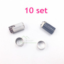 10 conjunto original usado Dobradiça Shell Eixo Peças de Reposição para Nintendo DS Lite para NDSL Jogo de Reparo Do Console