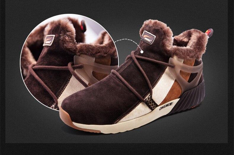 onemix New Waterproof Snow Boots Women Sneaker Men Trainers Walking Outdoor Athletic Comfortable Warm Wool Running Shoes Hotsell 11