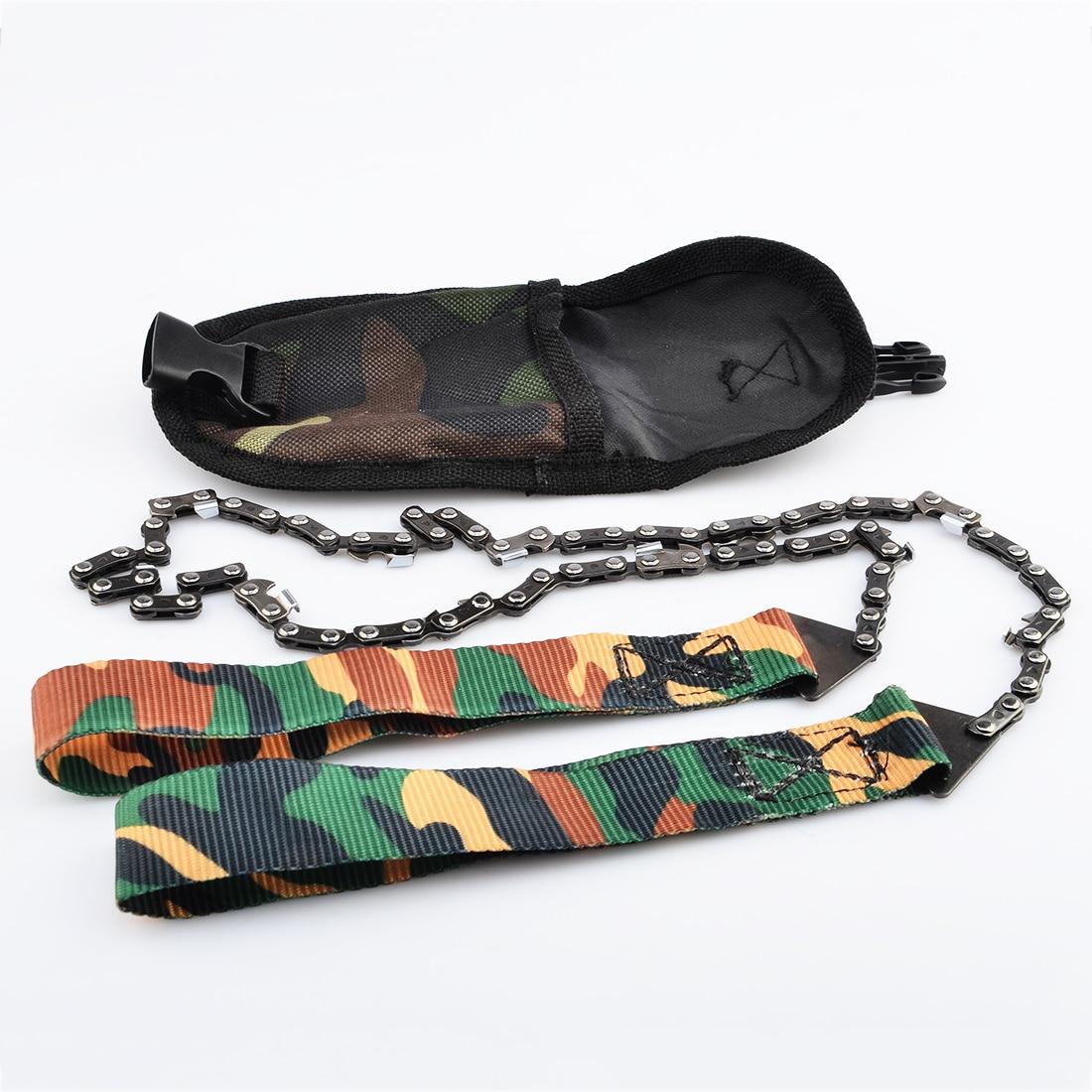 Portable Survival Gear : Outdoor survival gear manganese steel hand felling saw