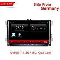 9 Inch Android 7.1 Car GPS Navigation Multimedia Player Autoradio 2.5D IPS For Volkswagen/VW/ Passat/POLO/GOLF/Skoda/Seat/Leon