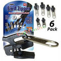6pcs/lot Fix A Zipper As Seen On TV Magic Zipper Fix Any Zipper Quickly Instant Zipper Rescue Instant Repair Kit Replacement