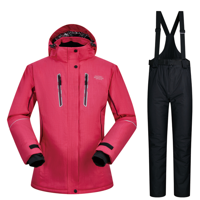 e8ae9ddc35 Women Ski Suit Brands 2018 High Quality Set Waterproof Super Warm -30  degree Ski Jacket And Pants Snow Winter Snowboarding Suits