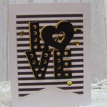 Love Heart Letter Word Metal Cutting Dies for Scrapbooking New 2019 Die Cuts Card Making Stitch Craft Troqueles