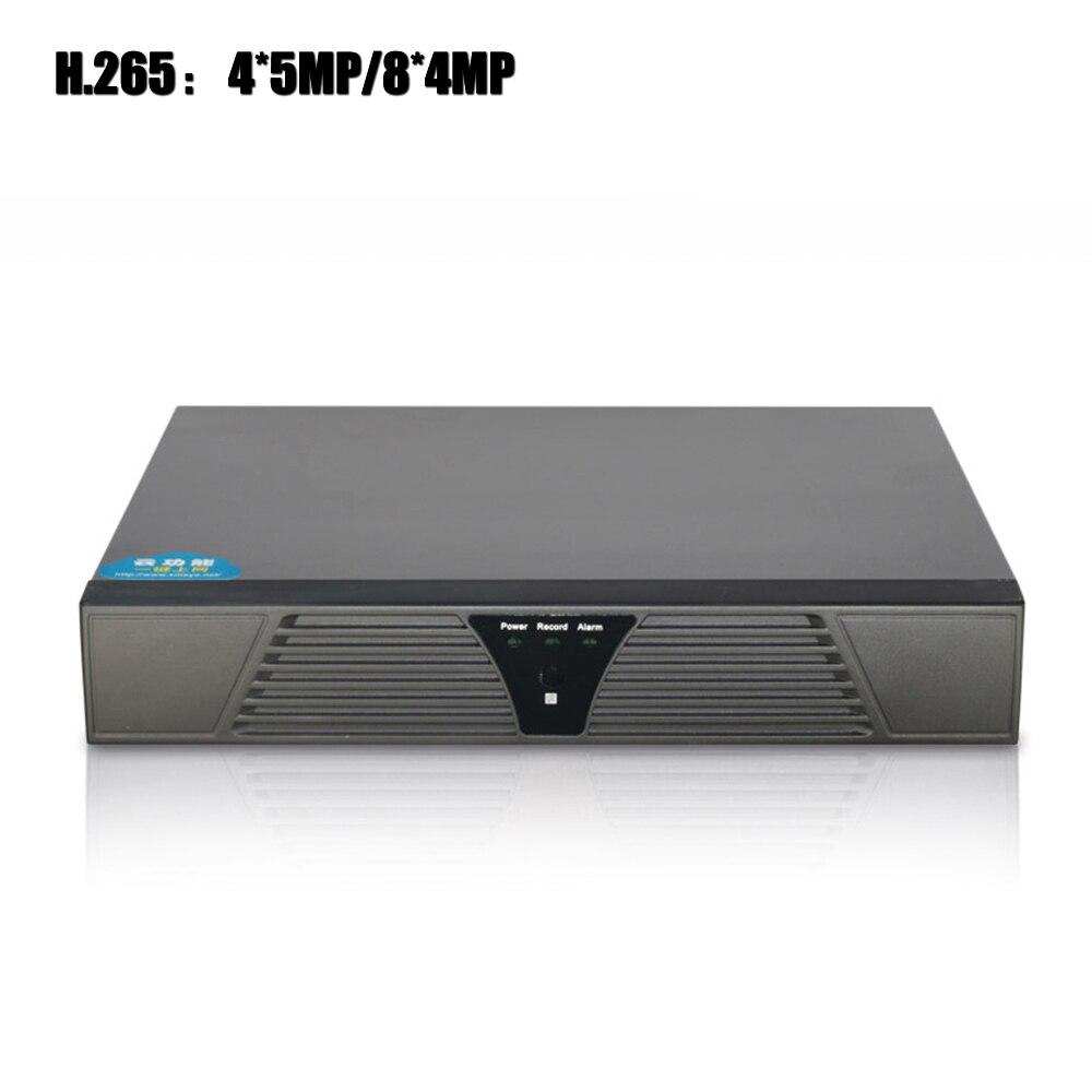 YiiSPO 4CH 5MP/8CH 4MP CCTV NVR H.265 seguridad grabador de vídeo en red de vigilancia de la casa de 4 K NVR apoyo H265 /264 IP CCTV Cámara