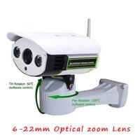 1080P PTZ IP Camera 6 22mm Optical Zoom Lens HD 1080P Pan Tilt Zoom IP Camera