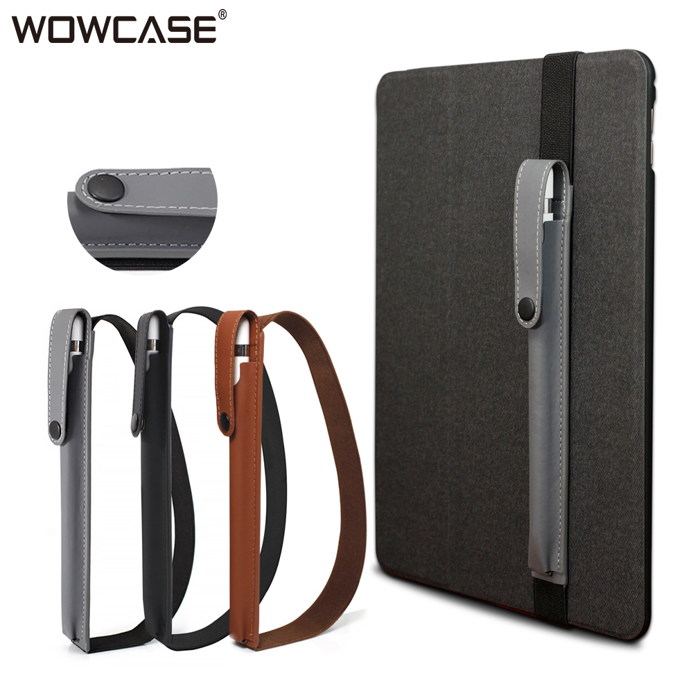 WOWCASE Cases For Apple Pencil Pouch Case Bag PU Leather Sleeve Protective Cover For iPad
