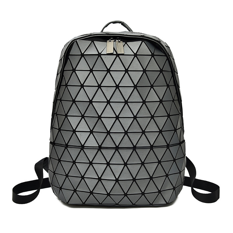 Fashion Large Geometric Women Leather Backpack School Bags For Teenage Girls Laptop Backpack Zipper Anti Theft Backpack Mochila