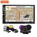7020G 7 pulgadas 1080 P Car Audio Reproductor MP5 Reproductor de Bluetooth Llamada Control Remoto en el volante de Apoyo de Navegación GPS FM USB TF AUX
