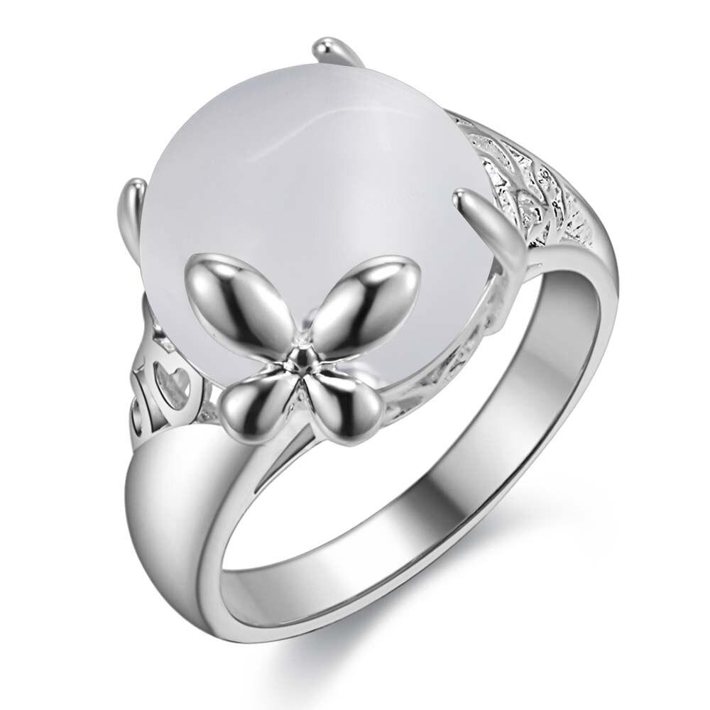 Treu Silber Ring Schmetterling Frauen Männer Opal Weiß Stein Engagement Liebe Geschenk Joyas De Plata Anillo Flecha Fina 925