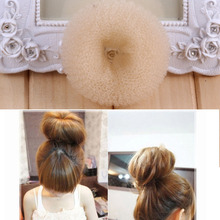 New Maiden Donut Bun Maker Girl Women Round Sponge Hair Curler Curling Iron Hairstyle Styling Tools
