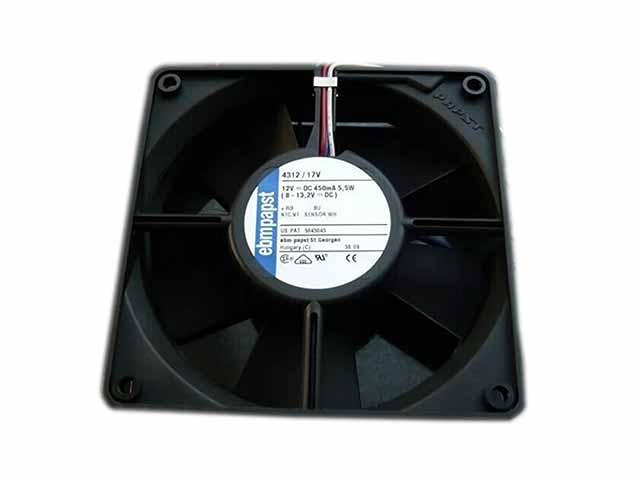 ebm-papst 4312/17V DC 12V 5.5W 120x120x32mm Server Square fan ebm papst 412fm 412 fm dc 12v 0 045a 0 55w 40x40x10mm server square fan