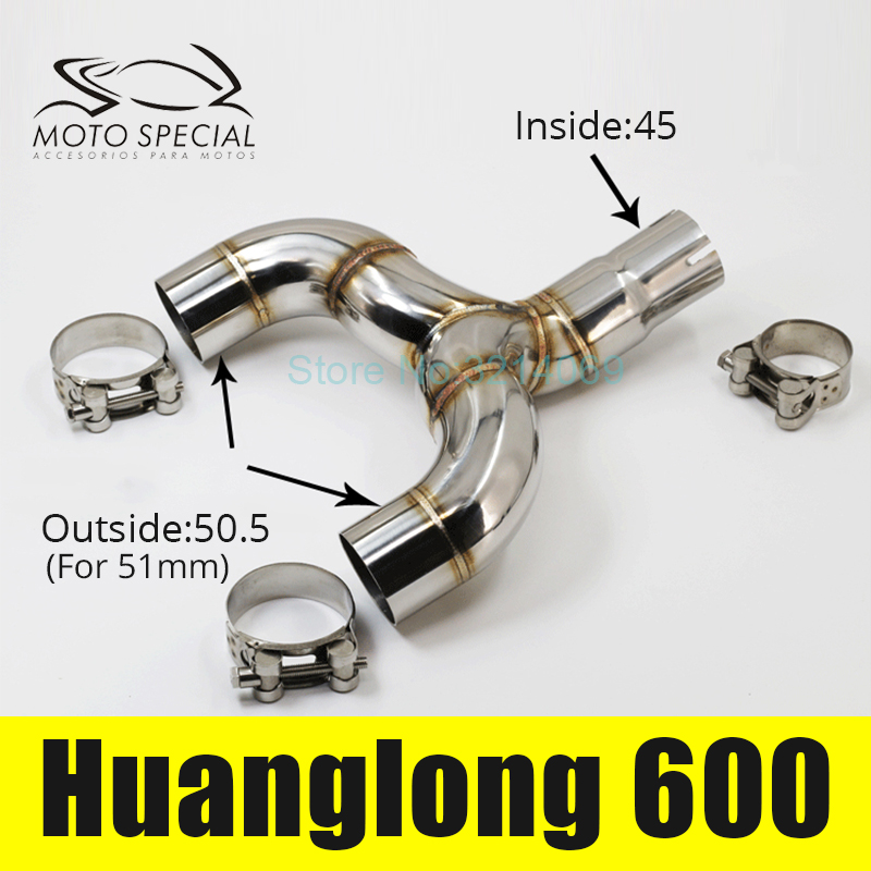 Motorcycle Muffler Exhaust Link Pipe Motorbike Muffler Escape Connect Pipe Middle Part Of Huanglong 600 Middle Pipe Adapter