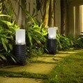 1 шт. пластиковая ротанговая стильная солнечная лужайка лампа для двора пост путь Кола огни сад патио земля лужайка свет белый свет