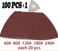 100 Pcs Sanding Paper Triangular Sanding Pad For Fein Dremel Power Tool Sandpaper For Oscillating Multi