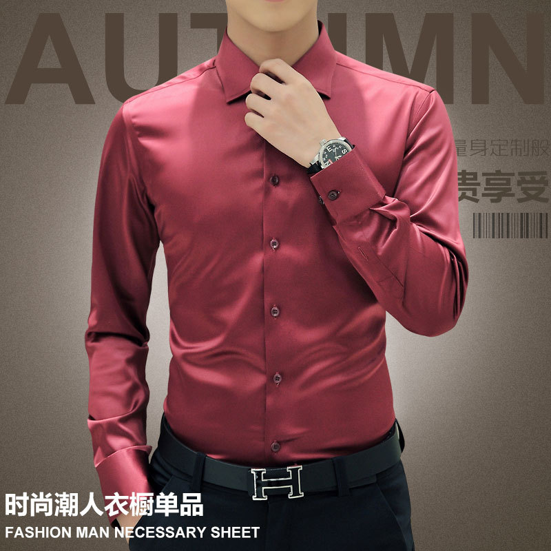 Image 3 - Plus Size 5XL 2019 New Men's Luxury Shirts Wedding Party Dress Long Sleeve Shirt Silk Tuxedo Shirt Men Mercerized Cotton Shirt-in Tuxedo Shirts from Men's Clothing