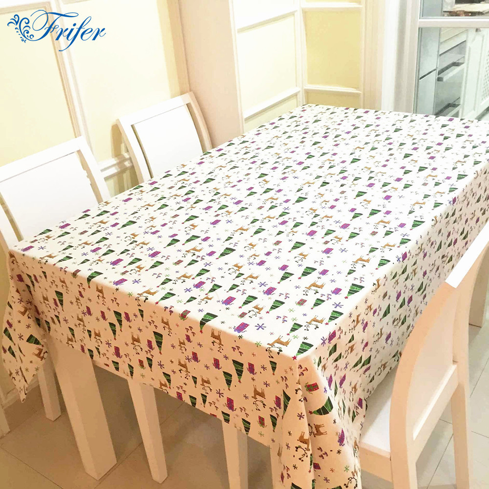 European Classical Style Christmas Deer Pattern Tablecloth Cotton Linen Table Flag Restaurant Home Hotel Party Table Cloth
