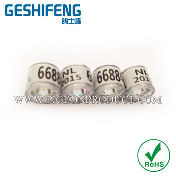 2016 white color 300pcs racing pigon ring free shipping for sale