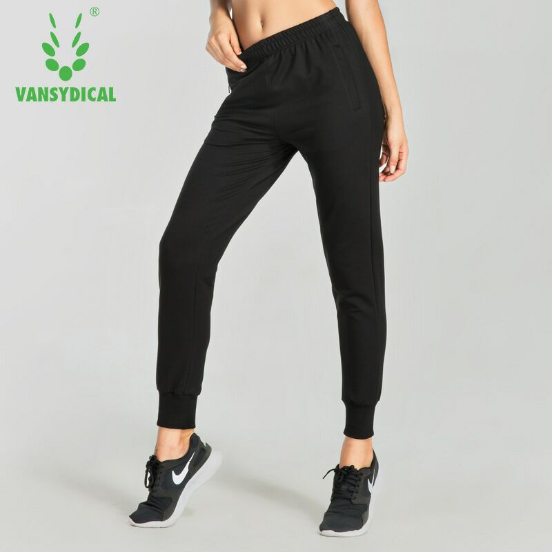 2018 Women Running Pants With zipper Pockets Gym Workout Yoga Jogging Pants Fitness Training Sports Trousers