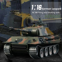3819 update verison remote control rc tank 1/16 2.4G metal or plastic Battle Tank with BB Bullet Shoot simulation sound tank toy