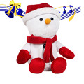 HOT New Funny Christmas Snowman Sound Recording Toy Squeaker Sound Toy Plush SEP 01
