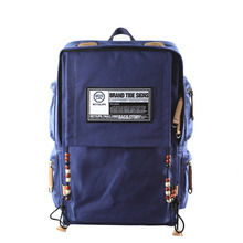 Fashion Laptop Backpack Women Trendy Large Capacity School Bag Bohemian Style Bead Men Designer Casual Canvas Travel Bag fashion lightweight backpack famous brand business casual trendy laptop backpack women men designer travel bag school bag