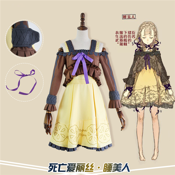 Anime Hot Game Hot Game SINoALICE Cos Briar Rose Dress Cosplay Costumes Full Sets Dress+Shirt D