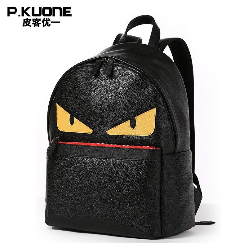 Корейская Мода маленький монстр натуральная кожа женщины рюкзак Небольшой женский дорожные сумки досуга Мини Старший студент школьные сум…
