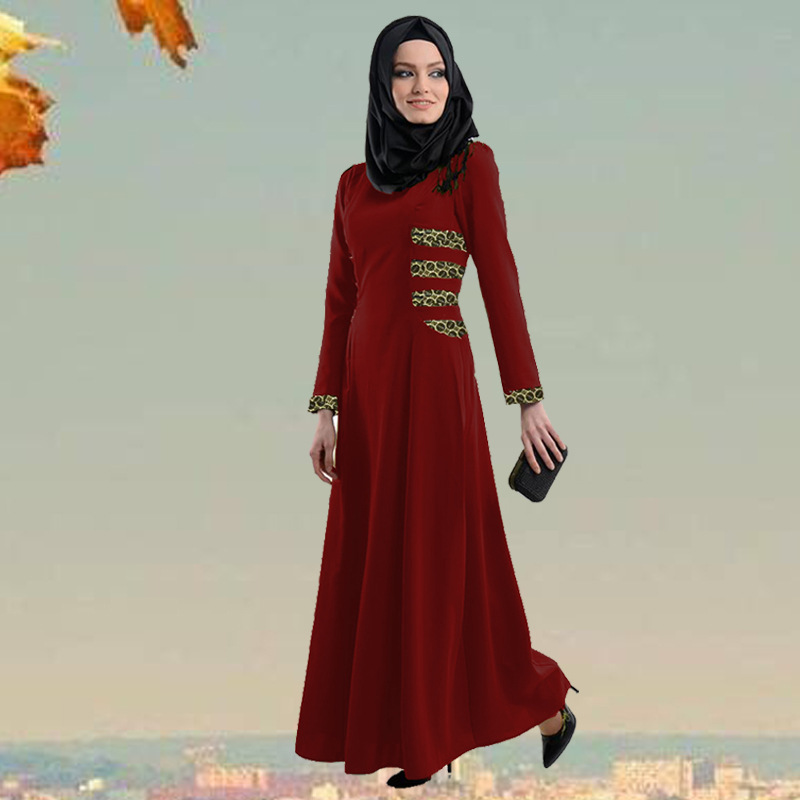 2016 Appliques New Jilbabs And Abayas Caftan Arab Garment Abaya Turkey In The Middle East Muslim Women Dress Fashion Large Size