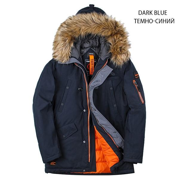 2019 NEW Winter Jacket Men Padded Parka Winter Cotton Coat Warm Men's Coat Artificial Fur Big Pockets Thick Parkas(China)