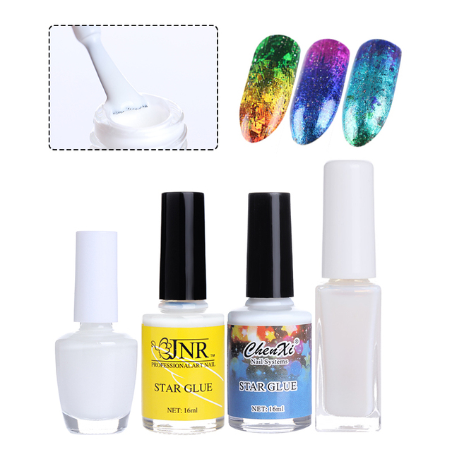 1 Bottle Clear Adhesive Starry Star Nail Glue for Nail Foils ...