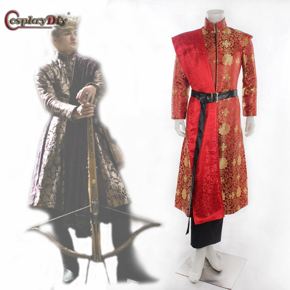 Cosplaydiy Game of Thrones Cosplay Costume King Joffery Costume Outfit Exclusive Prince Costumes Men Halloween Suit Cutomized