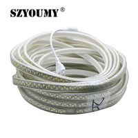 SZYOUMY 180 Leds/m SMD 5730 Led Strip 220V Flexible Waterproof Led Tape 5630 15M 20M 25M 30M 35M 40M+ EU Plug