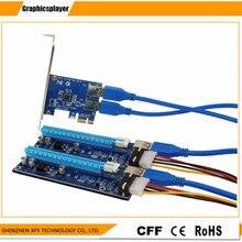 Новая карта PCIe 1-2 PCI Express 16X Слоты Riser Card pci-e 1X к внешним 2 pci-e слот адаптер PCIe Порты и разъёмы Multiplier карты