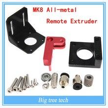 1 шт. 3D принтер аксессуары MK8 цельнометаллический дистанционного экструдер MK8 экструдер для 3D части принтера левые и правые способ для Выбор