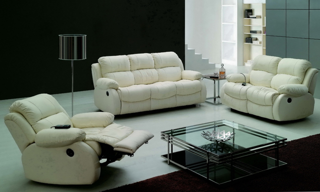 Modern Design luxury 1+2+3 modern reclining sofas, Chair, love seat ...