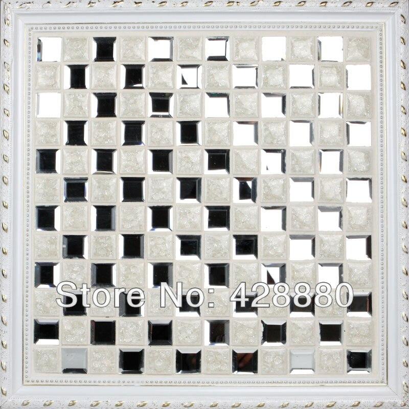 Glass Mosaic Mirror Tiles Porcelain Floor Tiles Crackle Crystal