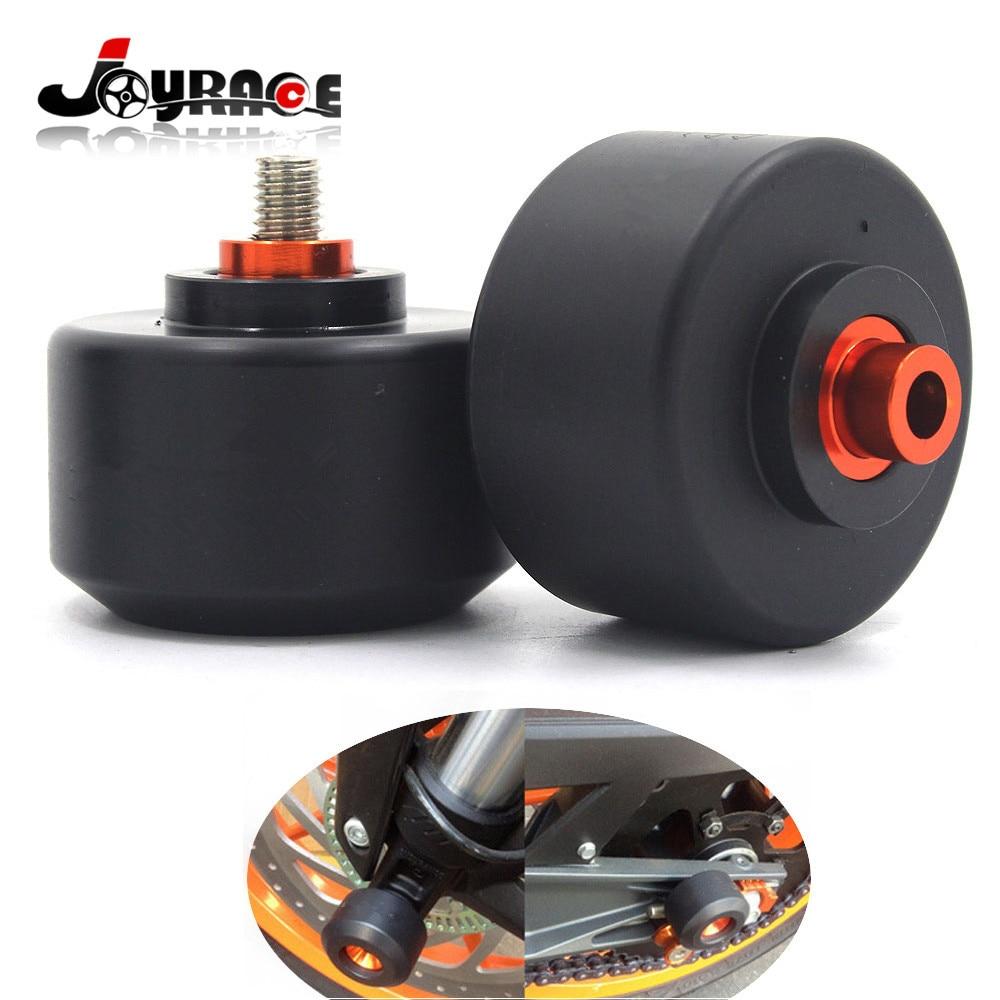 Motorcycle Front Fork Wheel Frame Slider Crash Protector For KTM DUKE 125/200/390 CNC Aluminum 6061 and POM
