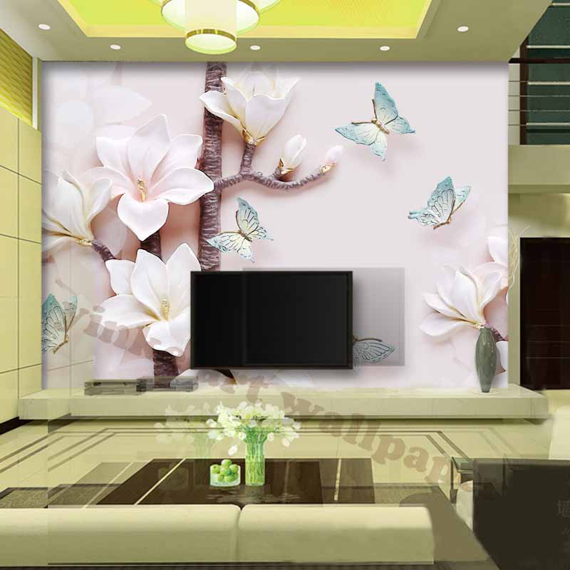 Aliexpress.com : Buy Elegant 3d Wallpapers For Living Room Waterproof TV  Background Photo Wallpapers Modern Environment Friendly Flowers Wall Paper  From ... Part 29