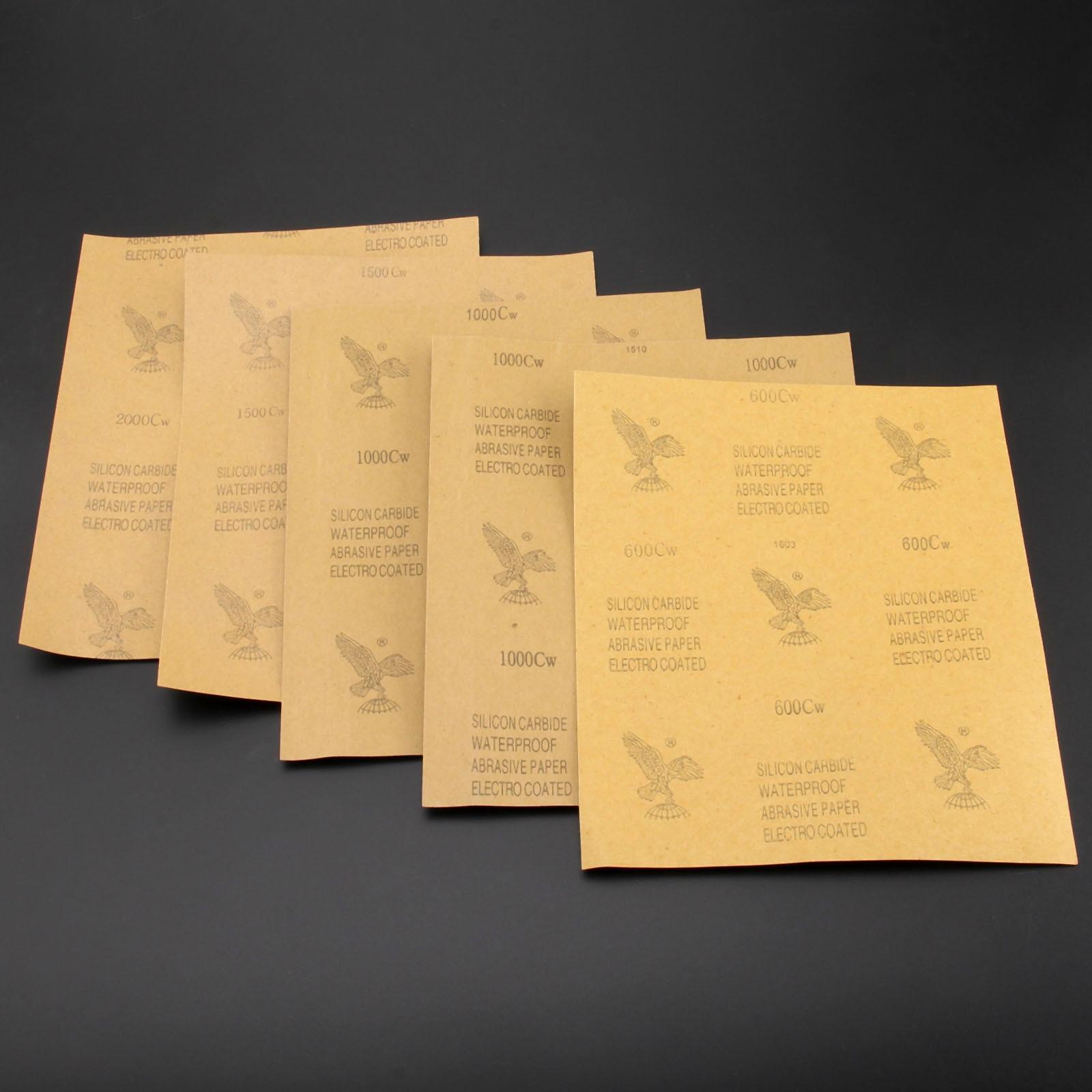 DRELD 5 lakštai iš švitrinio popieriaus neperšlampami abrazyviniu - Abrazyviniai įrankiai - Nuotrauka 2