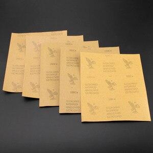 Image 2 - Наждачная бумага DRELD, 5 листов, водонепроницаемая абразивная бумага, наждачная бумага, силиконовый шлифовальный Полировальный Инструмент (1x зернистость 600, 2x1000, 1x1500, 1x2000)